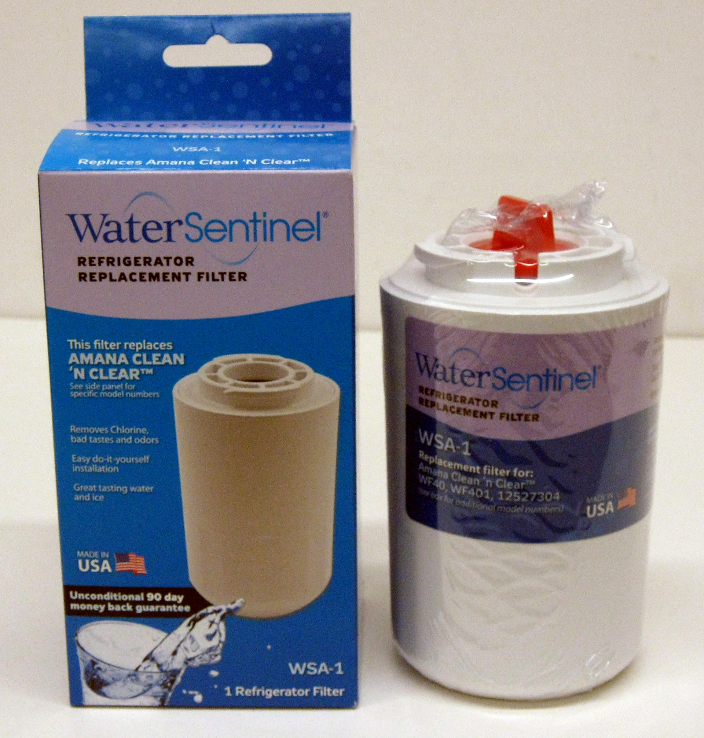 WSA1 Water Sentinel Refrigerator Water Filter for Amana Kenmore 46-9014 46-9904