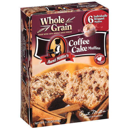 Aunt Millie's: Coffee Cake Muffins, 6 Ct