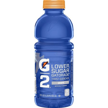 (24 Bottles)Gatorade G2 Low Calorie, Grape, 20 Fl