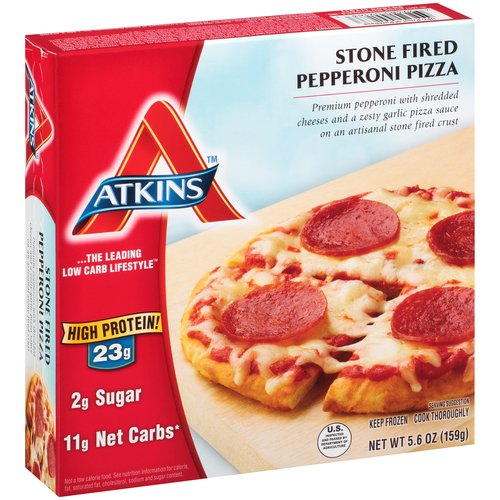 Atkins Stone Fired Pepperoni Pizza Frozen Meal, 5.6 oz
