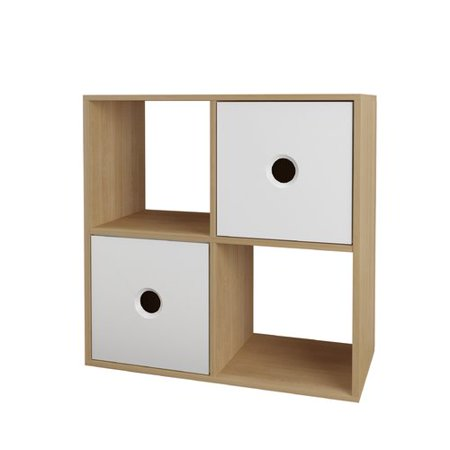 Nexera Domino Bookcase, Natural Maple & -