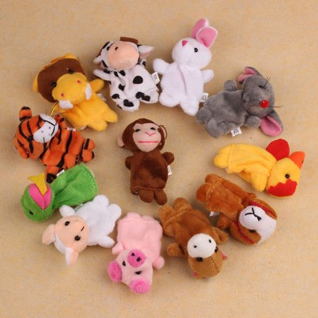 12Pcs Chinese Zodiac Soft Animal Puppet Finger Toys PLush Toys - Chinese Toys