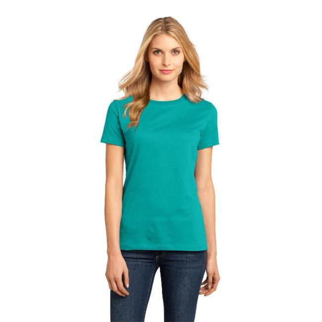 District Made® - Ladies Perfect Weight® Crew Tee. Dm104l Jade L - image 1 of 1