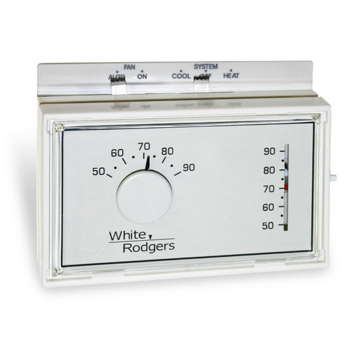 non-programmable 1h/1c mechanical thermostat w/ 3-wire zone mounting plate