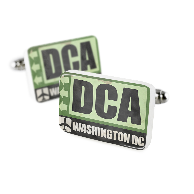 Cufflinks Airportcode DCA Washington DCPorcelain Ceramic NEONBLOND