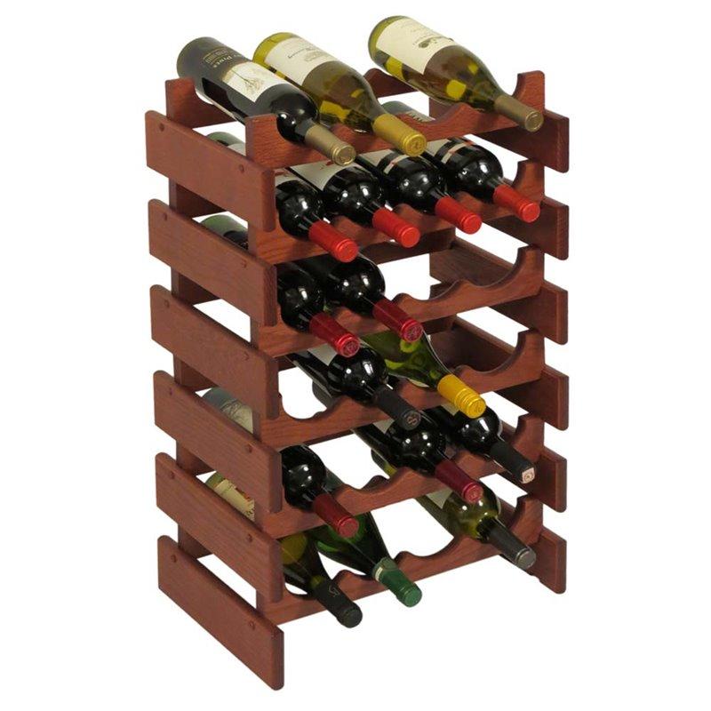 Wooden Mallet Dakota 6 Tier 24 Bottle Wine Rack in Mahogany by Wooden Mallet