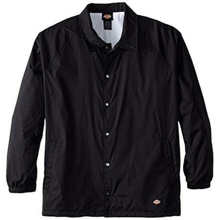 Dickies Mens Big Snap Front Nylon Jacket  Black  3X