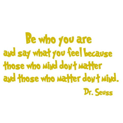 VWAQ Be Who You Are And Say What You Mean Dr. Seuss Quote Wall Decal