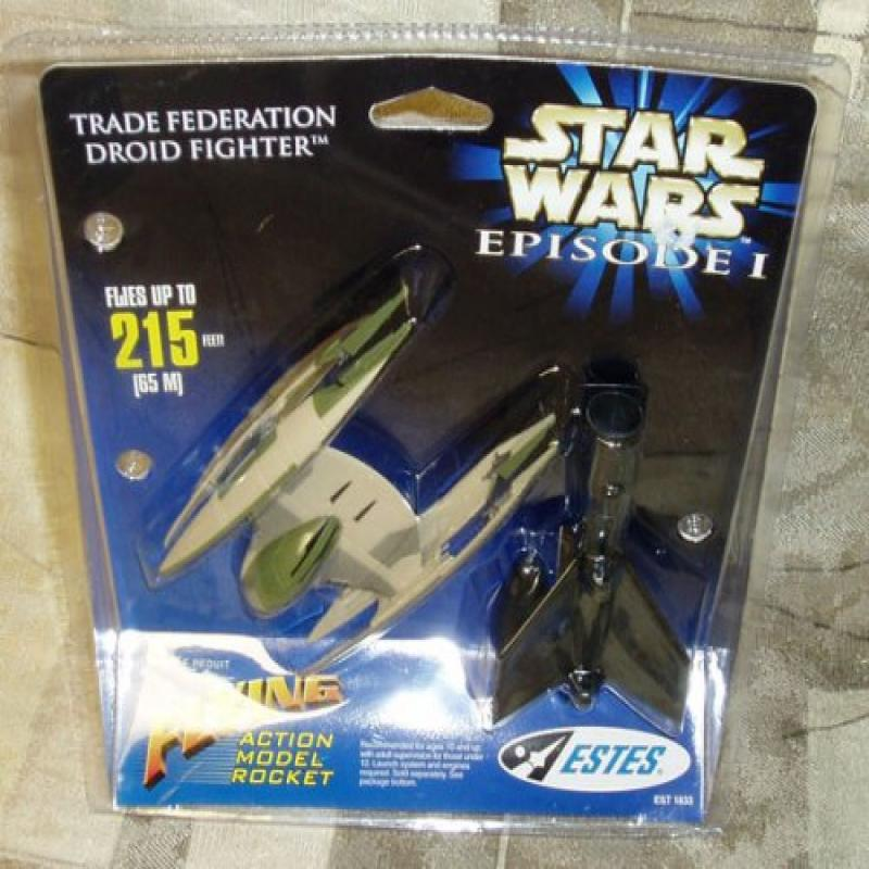 Star Wars Episode I Trade Federation Droid Fighter Flying Action Model Rocket by Estes by