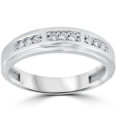 14ct mens diamond wedding ring 14k white gold walmartcom - Mens Diamond Wedding Rings White Gold