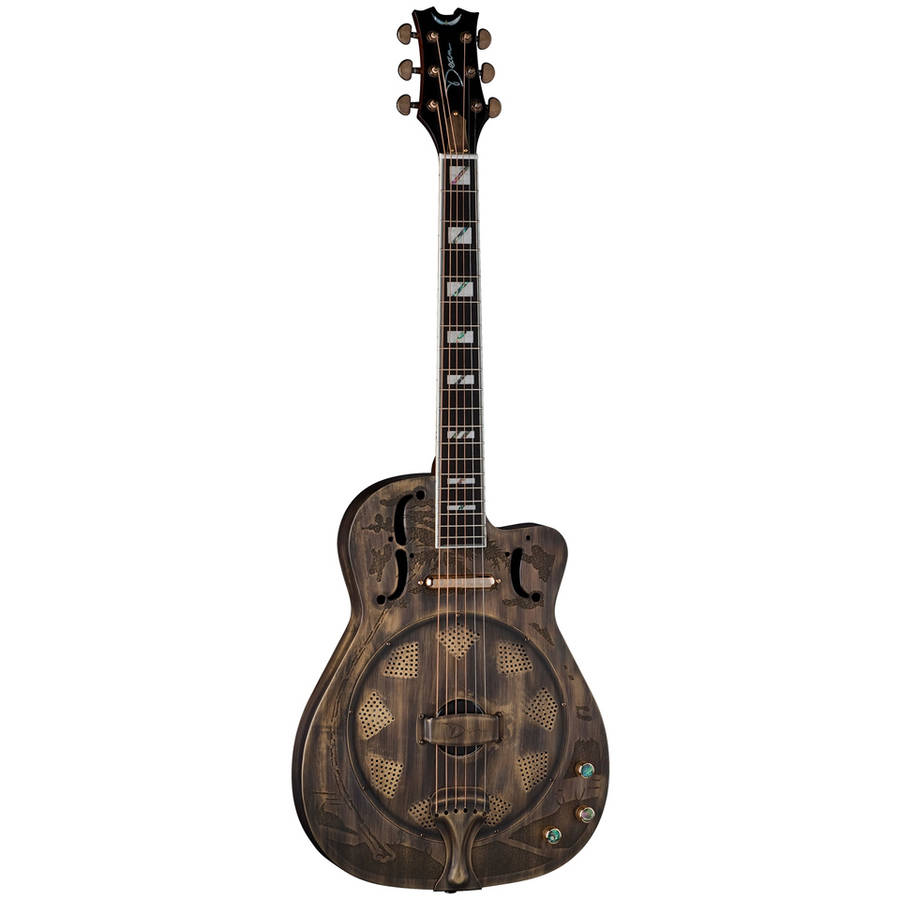 Dean Thin Body Cutaway Acoustic-Electric Resonator Guitar Brass Plated by Dean
