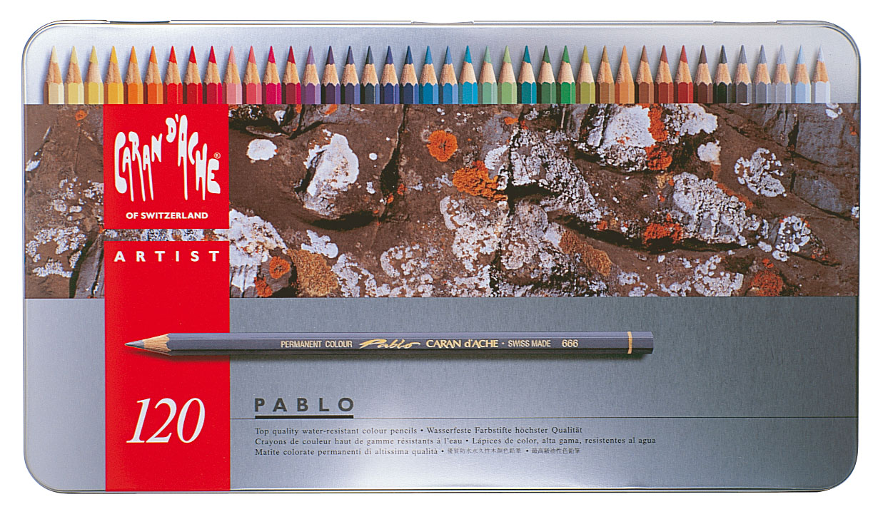 Caran d'Ache, Pablo Permanent Colored Pencils, 120 Colors - Walmart.com