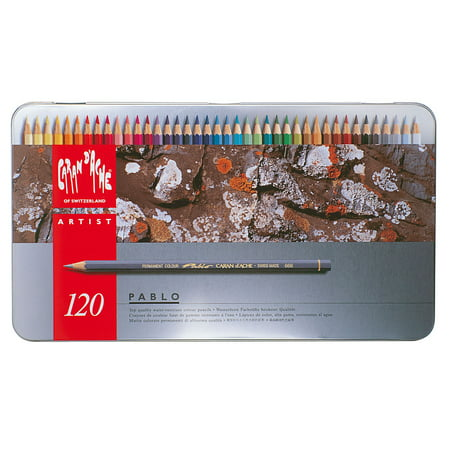 Caran d'Ache, Pablo Permanent Colored Pencils, 120 Colors ()