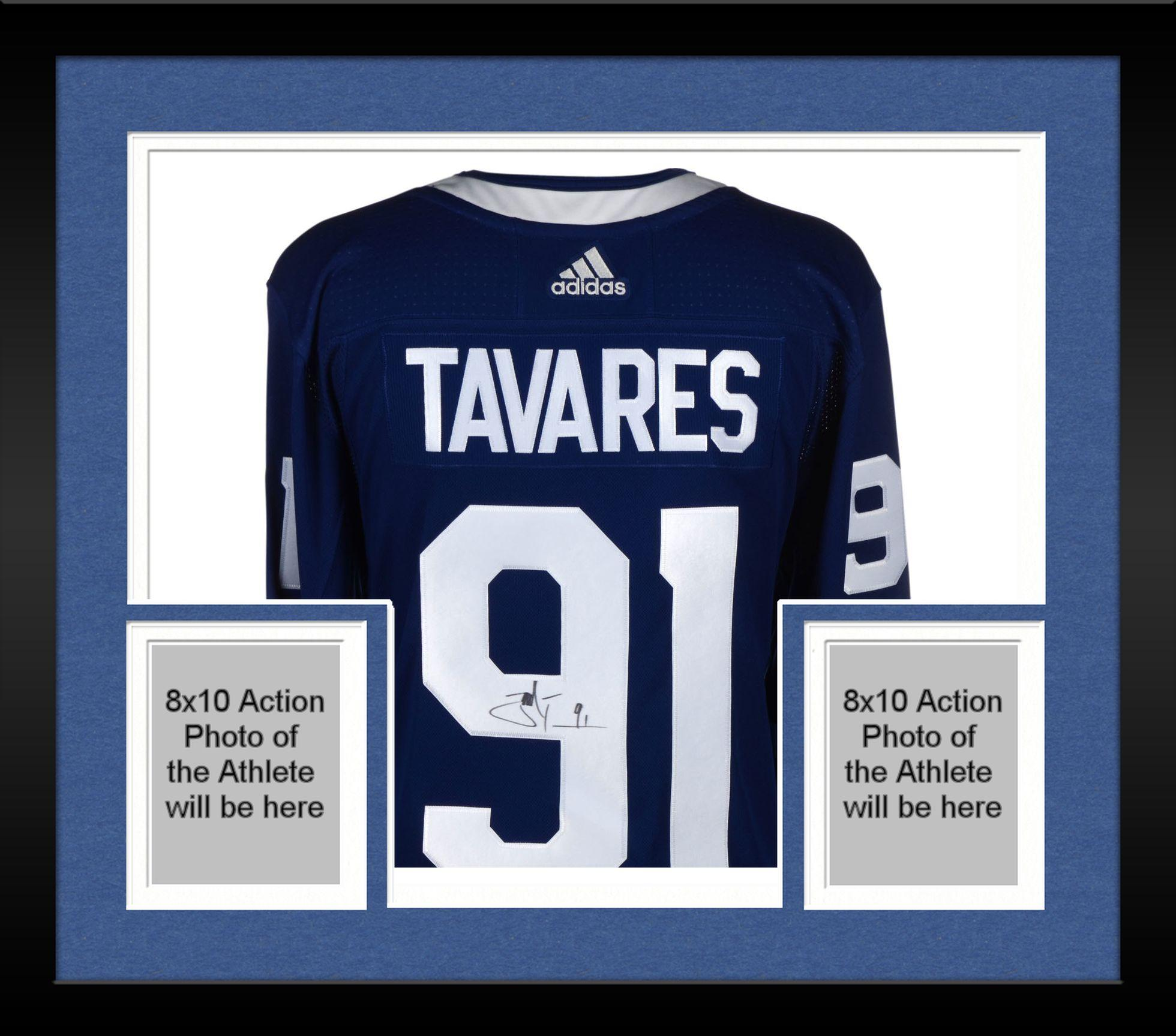 new product 53b37 a0446 Framed John Tavares Toronto Maple Leafs Autographed Blue Adidas Authentic  Jersey - Fanatics Authentic Certified