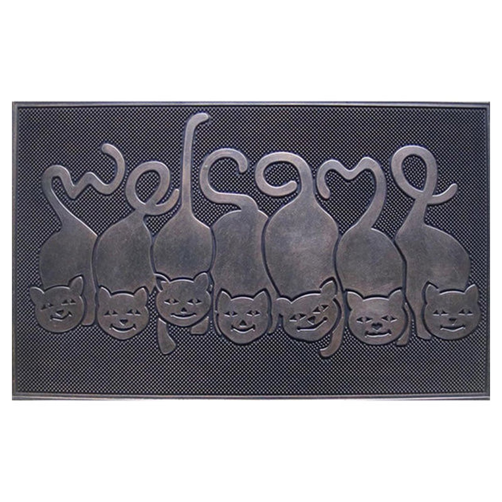 First Impression Cat Tail Welcome Outdoor Door Mat