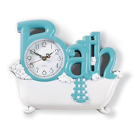 Blue Nursery Clock (Bathroom Wall Clock Blue)