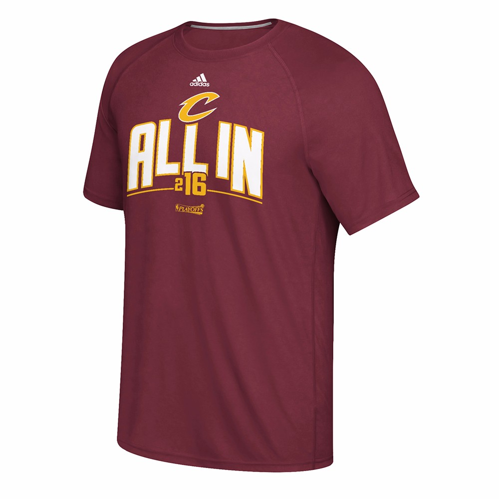 Cleveland Cavaliers NBA Adidas Maroon 2016 NBA Finals Playoff  Ultimate Climalite Performance T-Shirt For Men