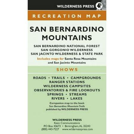 Map San Bernardino Mountains : San Bernardino National Forest/San Gorgonio Wilderness/San Jacinto Wilderness and State Park - Wilderness Road State Park Halloween