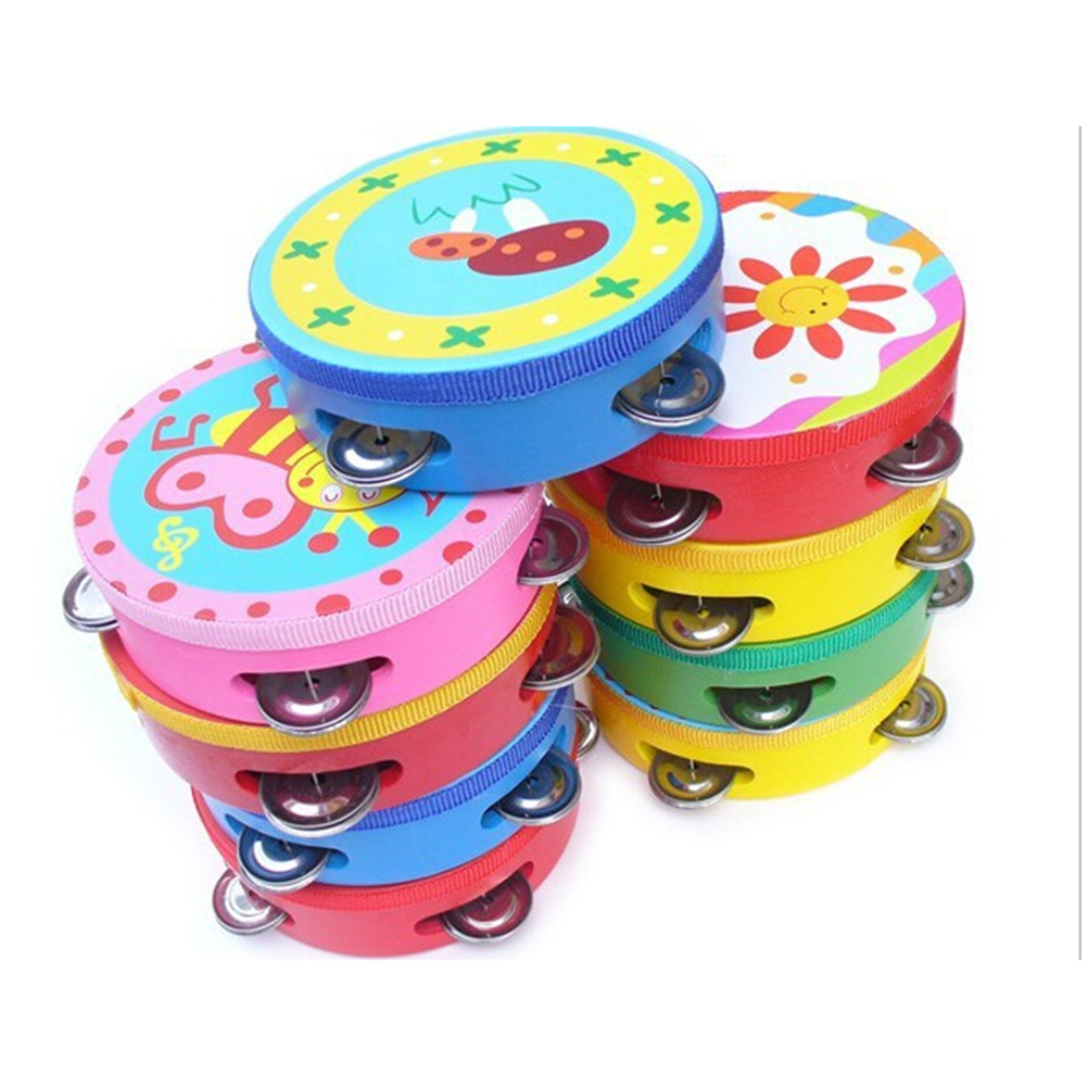 10CM Baby Child Kid Handbell Clap Drum Tambourine Rattles Toy Musical Instrument Exercise... by