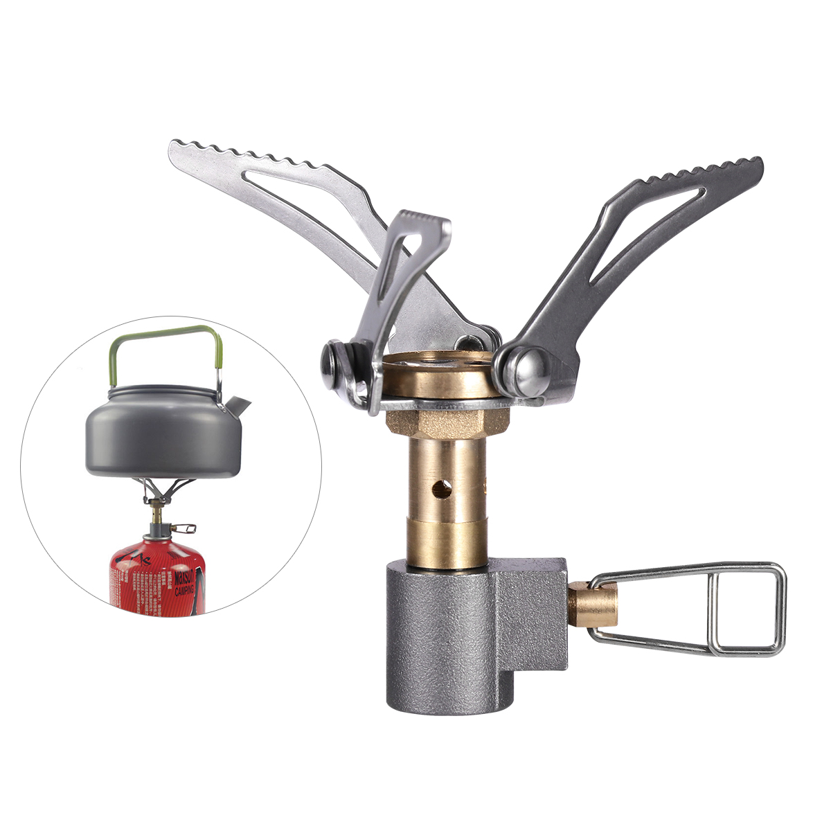 WINOMO Ultralight Mini Pocket Stove 3000W Portable Folding Gas Stove Camping Cookware Stove Outdoor Cooking Burner