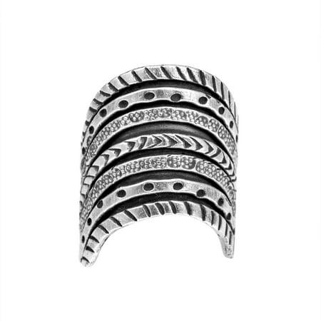 Thai Karen Hill Tribe Tribal Stack Illusion Handmade Silver Ring