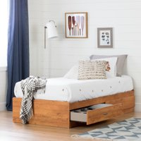 South Shore Logik Twin Storage Bed (39'') with 2 Drawers, Multiple Finishes