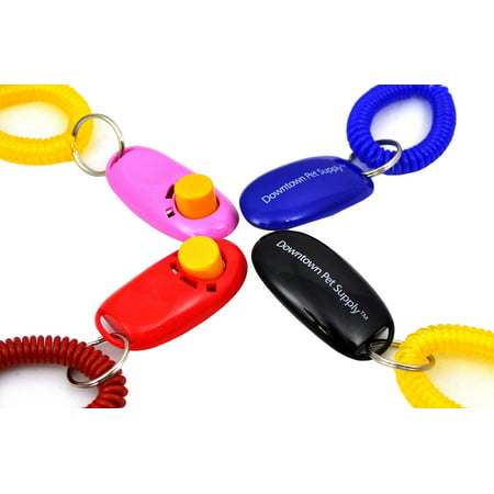 Big Button Dog Cat Training Clicker, Clickers with wrist bands ()