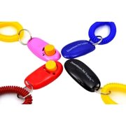 Big Button Dog Cat Training Clicker, Clickers with wrist bands