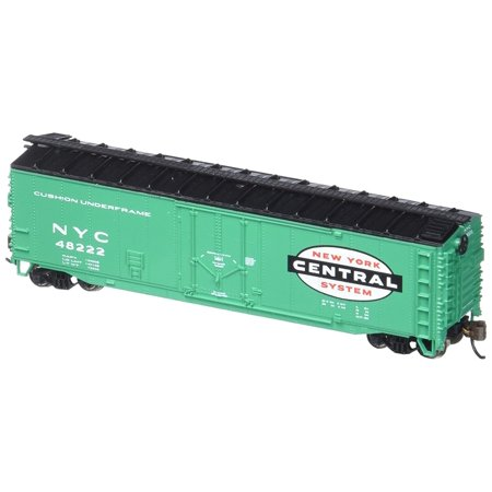 Bachmann Industries New York Central 50' Plug Door Box Car, Metal wheels, detailed underframe with separate brake rigging By Bachmann Trains Bachmann 50' Plug Door Box