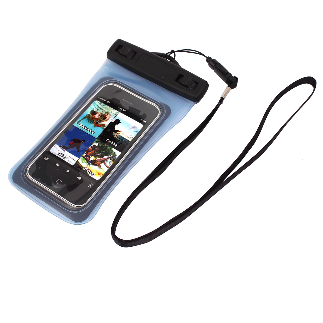 Unique Bargains Waterproof Dry Bag Protector Case Cover Pouch Clear Blue for 4  Cell Phone