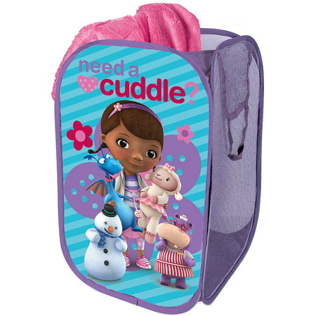 Disney Doc Mcstuffins Square Collapsible Storage Pop Up Hamper