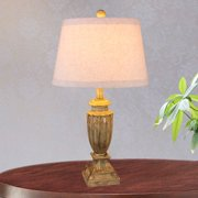 Fangio Lighting 's 26 in. Resin Table Lamp in an Antique Beige Finish