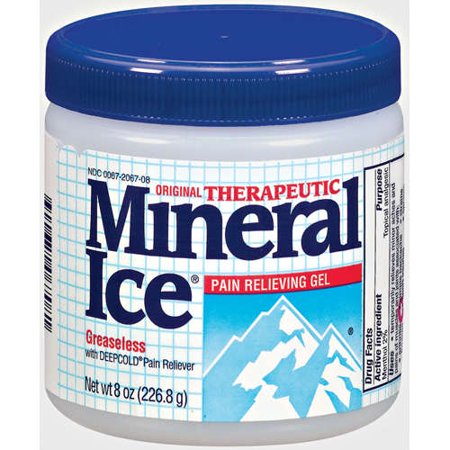 Mineral Ice  Therapeutic Pain Relieving Soothing Gel  8 Oz