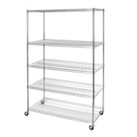 24 x 48 x 72 5-Tier NSF Steel Wire Shelving With Wheels by Seville Classics