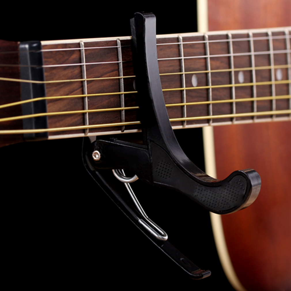 Black Quick Change Tune Clamp Key Trigger Capo For Acoustic Electric Guitar by