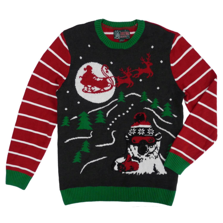 Ugly Christmas Sweater - Ugly Christmas Sweater Mens Santa Claus ...