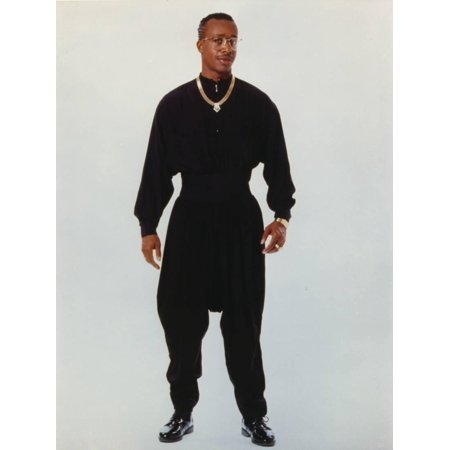 MC Hammer Posed in Black Outfit with Necklace Print Wall Art By Movie Star News