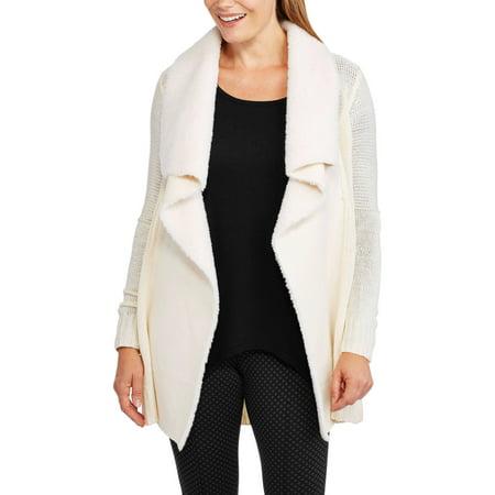 Allison Brittney Women's Shawl Collar Long Sleeve Open Cardigan