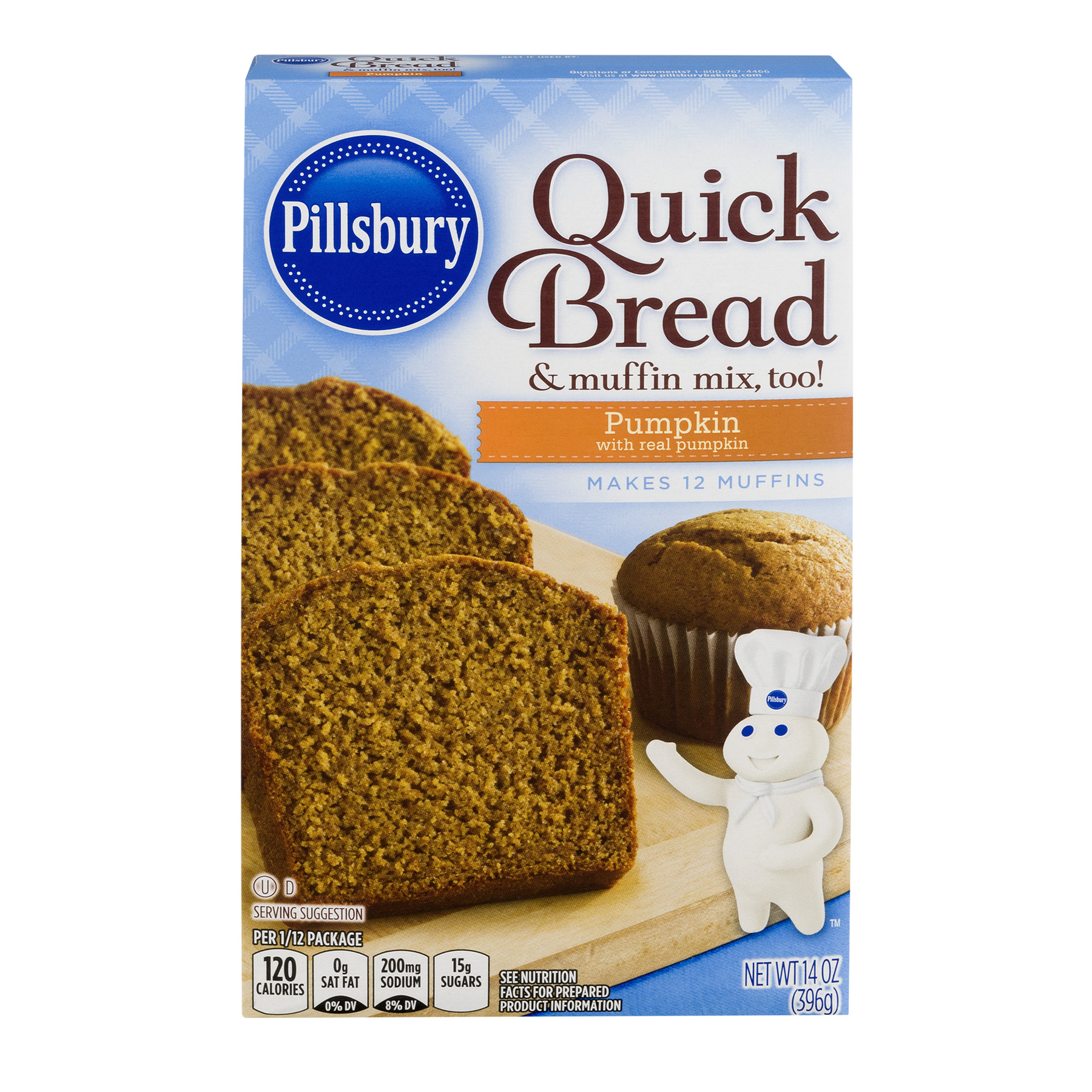 Pillsbury Quick Bread & Muffin Mix Too Pumpkin, 14.0 OZ