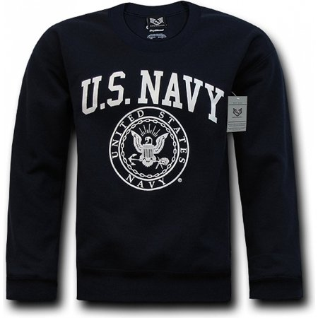 10 Ounce Crewneck Sweatshirt - RapDom Navy Mens Crewneck Sweatshirt [Navy Blue - 2XL]