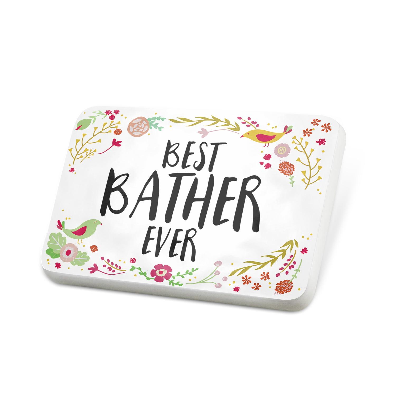 Porcelein Pin Happy Floral Border Bather Lapel Badge – NEONBLOND