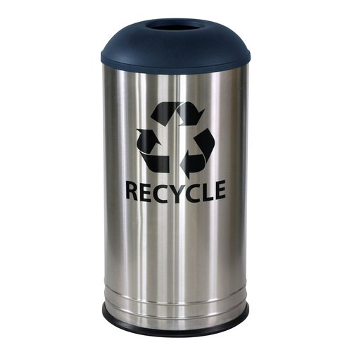 Ex-Cell Stainless Steel 18 Gallon Recycling Bin