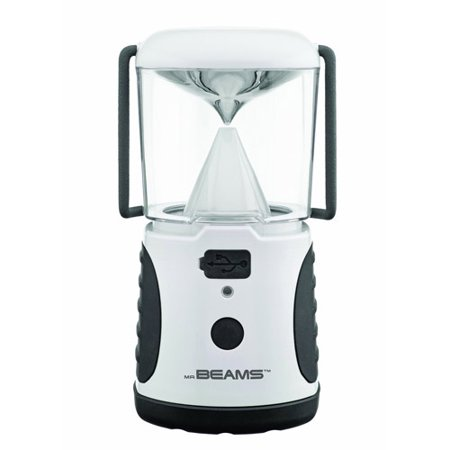 Mr. Beams MB480 UltraBright 260-Lumen LED Lantern with USB Charging Port, White