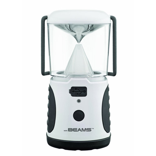 Mr. Beams MB480 UltraBright 260-Lumen LED Lantern with USB Charging Port, White