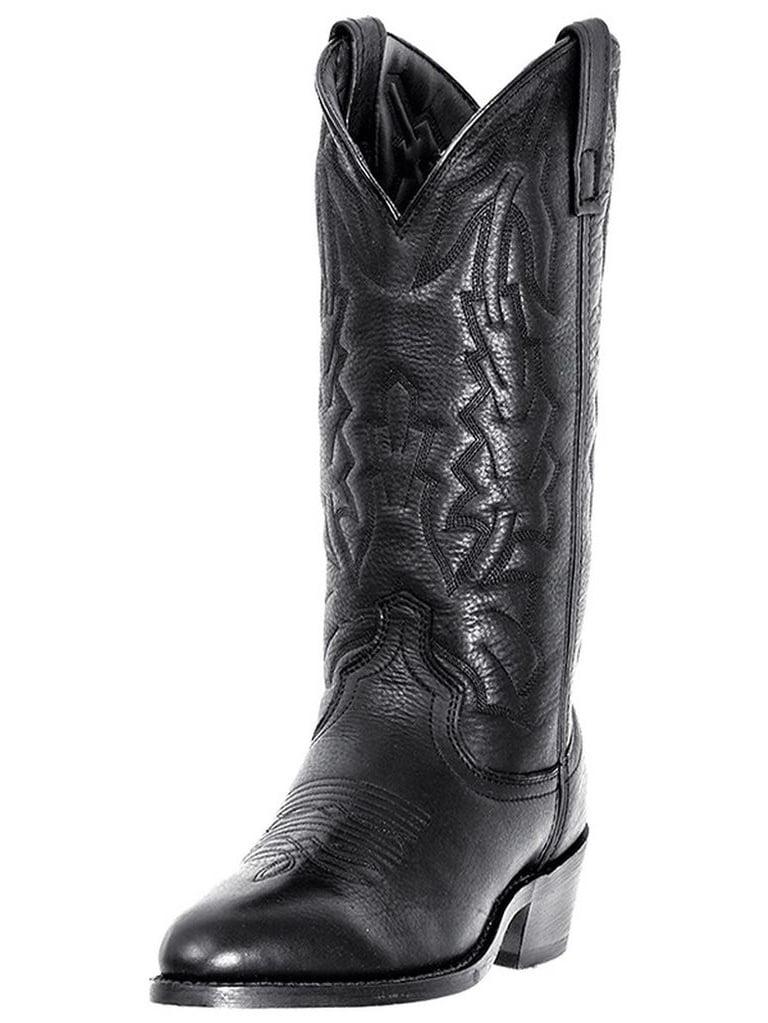 Laredo Western Boots Mens Jacksonville Cowboy Black Deertan 6691 by Laredo