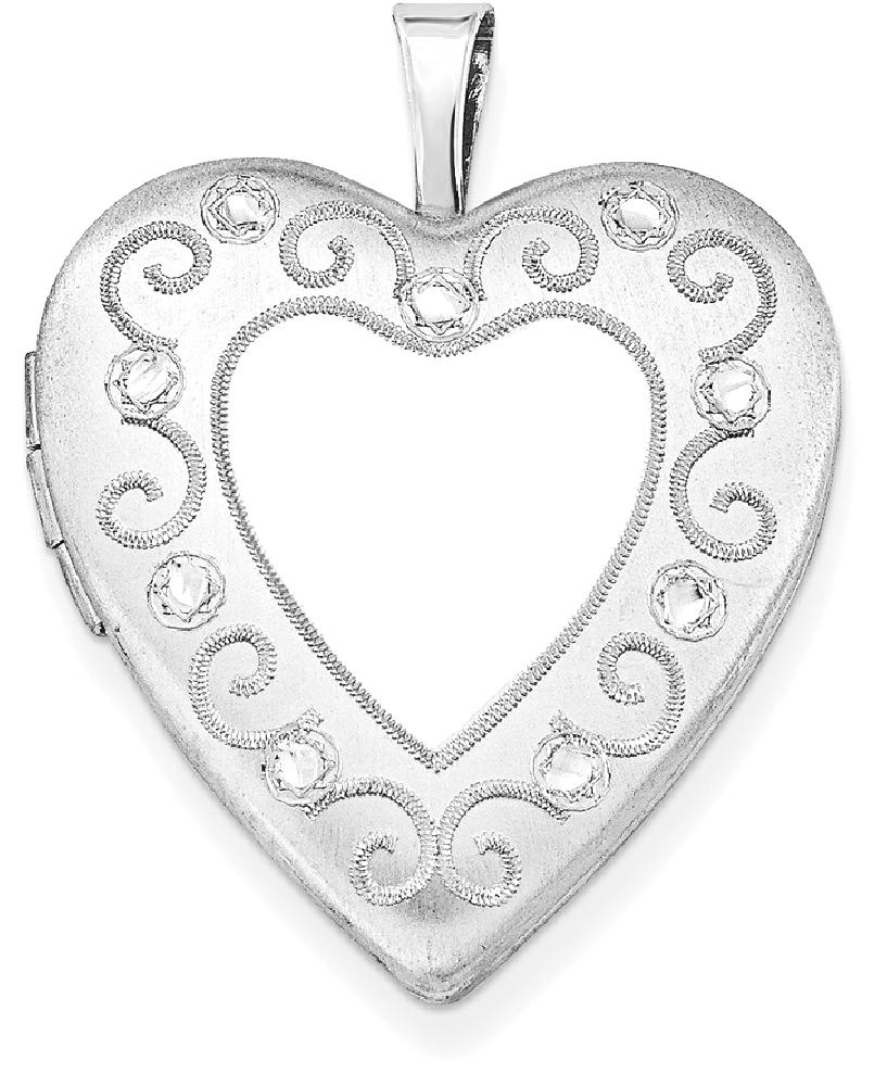 ICE CARATS ICE CARATS 925 Sterling Silver 20mm Heart Photo Pendant Charm Locket Chain Necklace That Holds Pictures Fine... by IceCarats Designer Jewelry Gift USA