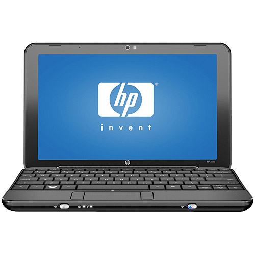 HP Black 110-1046NR Netbook PC with Intel Atom N270 Processor and Windows XP Home Edition, Refurbished