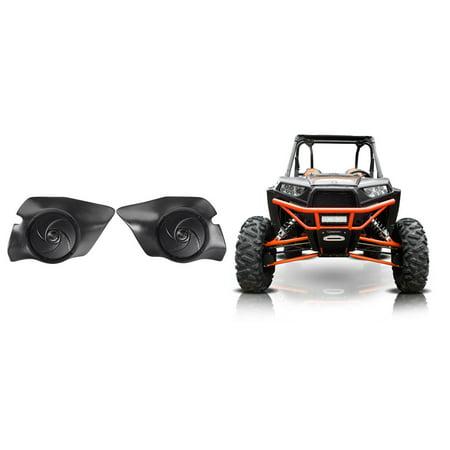 Waterproof Speakers+Kick Panel Pods for 2014-2017 Polaris RZR 1000/900S/Turbo