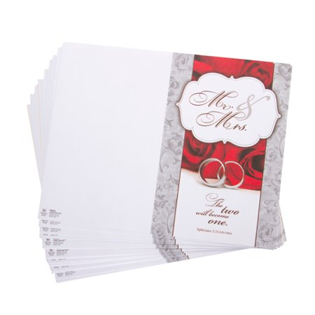 Wedding Program Wording (Darice Victoria Lynn Wedding Programs 2 Become 1 Theme )