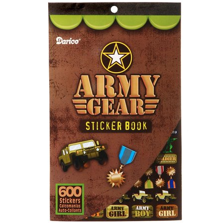 Army Gear Sticker Book Party Accessory, Army Sticker Book By Darice